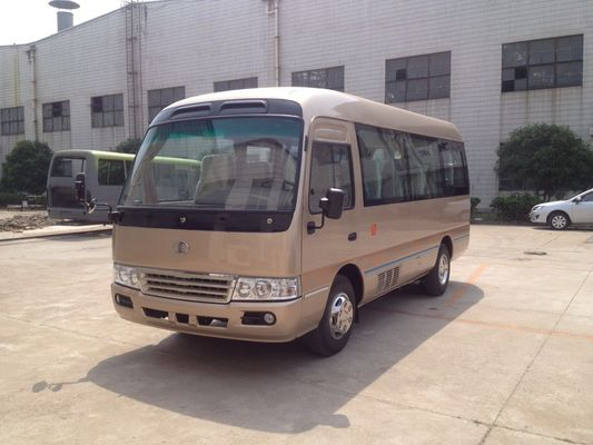 الصين Luxury 19 Seater Minibus / Diesel 6m  Length Coaster Bus 4.3T Rear Axle , 15-24 Seats مصنع